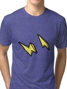 cartoon lightning bolt doodles Tri-blend T-Shirt