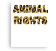 Animal Rights Stop Cruelty Abuse Tee for Women Men Kids Canvas Print