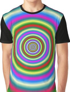 Rings in Red Yellow Blue and Green Graphic T-Shirt