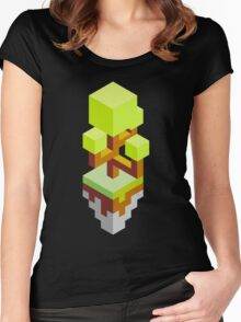 Isometric abstract color tree Women's Fitted Scoop T-Shirt