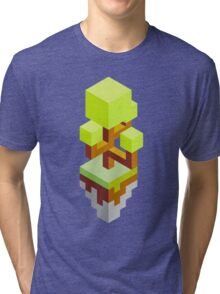 Isometric abstract color tree Tri-blend T-Shirt