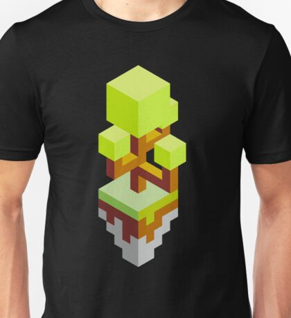Isometric abstract color tree Unisex T-Shirt