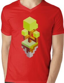 Isometric abstract color tree Mens V-Neck T-Shirt