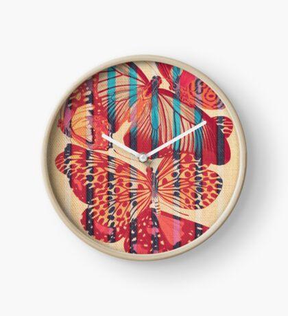 Butterflies in Strips Clock