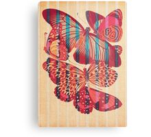 Butterflies in Strips Impression métallique