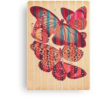 Butterflies in Strips Canvas Print