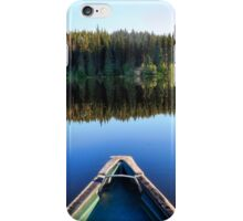 Canoeing on Lonely Lake iPhone Case/Skin