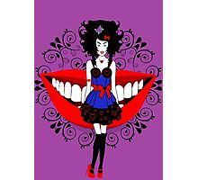 Uptight Alice, plays Queen of Hearts Photographic Print