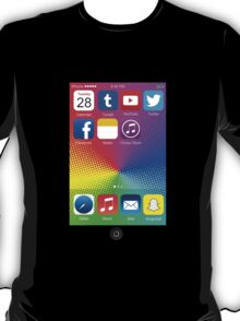 The All New iPhone - with colored background T-Shirt