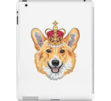 Pembroke Welsh corgi in gold crown iPad Case/Skin