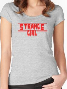 strange girl Women's Fitted Scoop T-Shirt