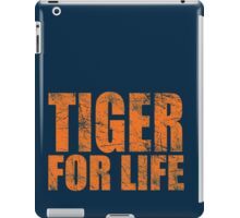 Tiger for Life -Navy and Orange iPad Case/Skin