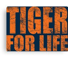 Tiger for Life -Navy and Orange Canvas Print