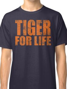 Tiger for Life -Navy and Orange Classic T-Shirt