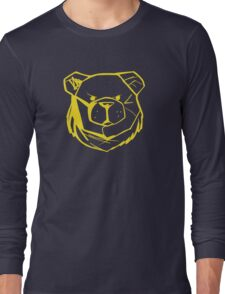 Robust Bear Logo Yellow Long Sleeve T-Shirt