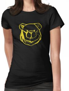 Robust Bear Logo Yellow Womens Fitted T-Shirt