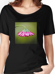 Pink/Green Flower Umbrella© (S120915pgfu) Women's Relaxed Fit T-Shirt