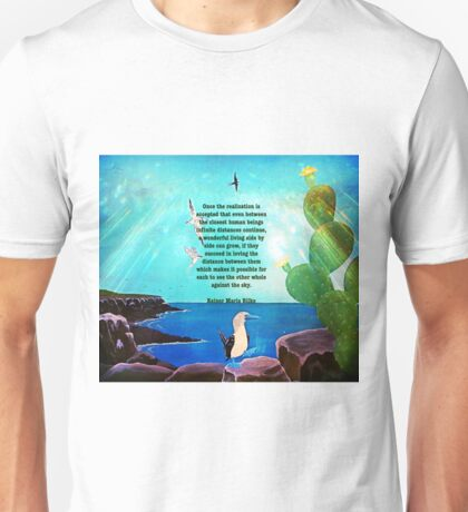 Beautiful Love Realization Inspirational Quote With Nature Painting  Unisex T-Shirt