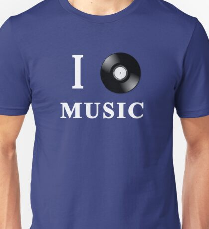 I Love Music <3 Unisex T-Shirt