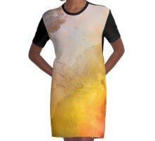 Helix Nebula Close Up Watercolour Graphic T-Shirt Dress