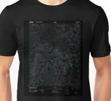 USGS TOPO Map Arkansas AR Ponca 20110727 TM Inverted Unisex T-Shirt