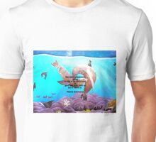 Motivational Giving Out Love Quote With Sea Lions Painting  Unisex T-Shirt