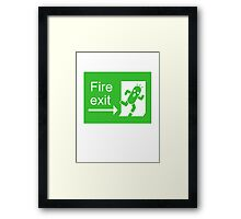Cactuar Escaped! (w/ face) Framed Print