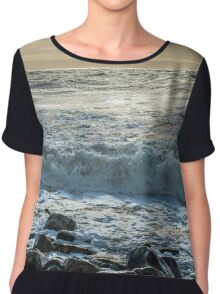 The Wave Rushes In Chiffon Top