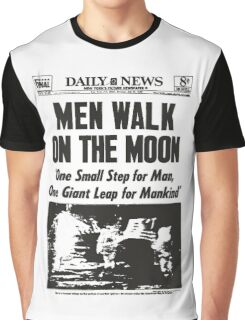 Moon Landing Front Page 1969 Graphic T-Shirt