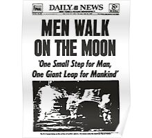 Moon Landing Front Page 1969 Poster