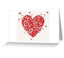 Wedding heart Greeting Card