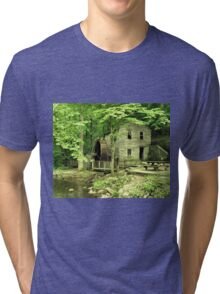 """""""Rice Grist Mill""""... prints and products Tri-blend T-Shirt"""