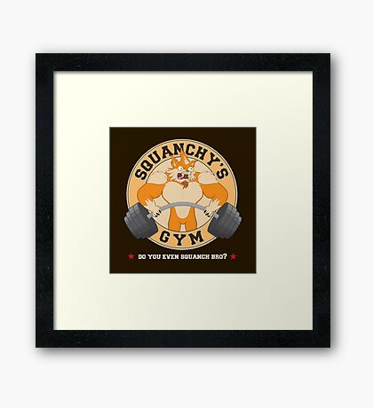 Squanchy's Gym Framed Print