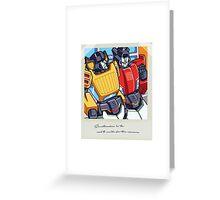Sunstreaker & Sideswipe Polaroid  Greeting Card