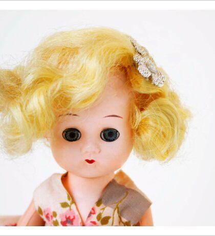 1950s Blond Doll Face Sticker