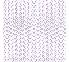 Pastel Fish Scale Photographic Print