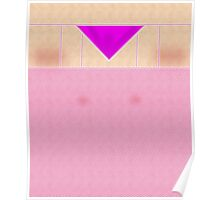 Fishnets Stockings Hot Pink with Knickers Poster