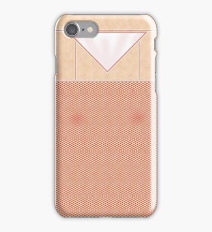 Fishnets Stockings Red with White Knickers iPhone Case/Skin