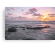 cable beach sunset watermovement  Canvas Print
