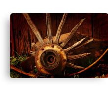 Old Wagon Wheel Canvas Print
