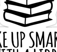 Funny 'Wake Up Smarter. Sleep With a Librarian' T-Shirt and Gifts Sticker