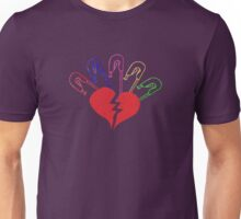 Broken Heart and Safety Pins - Vintage Unisex T-Shirt