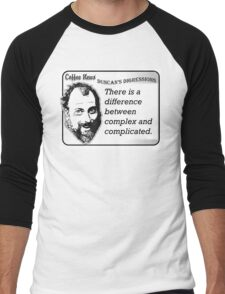 There is a difference between complex and complicated Men's Baseball ¾ T-Shirt