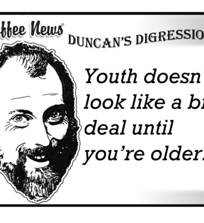 Youth doesn't look like a big deal until you're older. Sticker