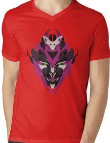 Vector purple robot head  Mens V-Neck T-Shirt