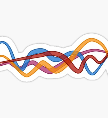 colored lines intersecting Sticker