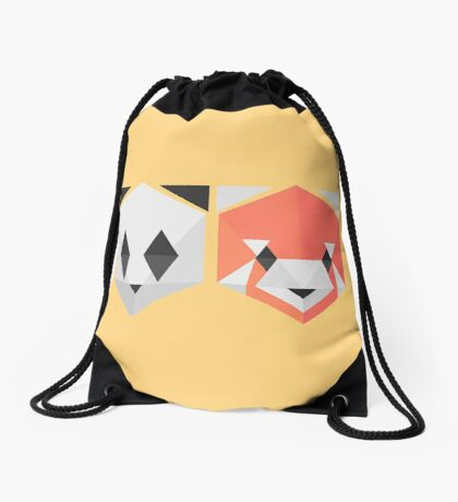 Panda Red Panda (yellow) Drawstring Bag