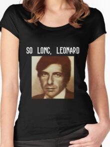 So long, Leonard Women's Fitted Scoop T-Shirt