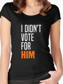 I Didn't Vote for Him Women's Fitted Scoop T-Shirt