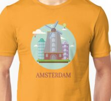 Amsterdam Netherland Tourist Place Traveller Visitors Unisex T-Shirt